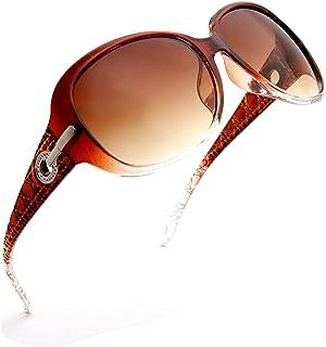 ENSARJOE Women`s Classic Stylish Designer Oval Retro Sunglasses 100% UV400 Protection