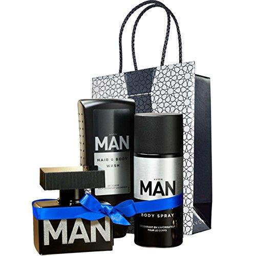 Avon MAN Geschenkset Eau de Toilette Spray + Duschgel + Deospray