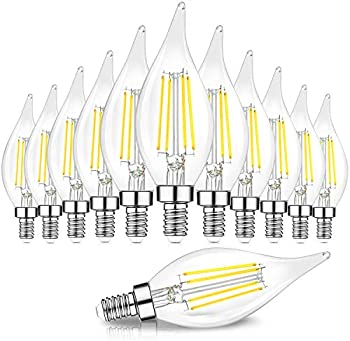 12-Pack TOBUSA Dimmable E12 Candelabra 60 Watt Equivalent LED Bulbs