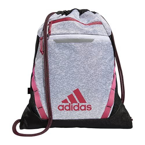 adidas Mochila unisex Rumble Iii, Unisex, 977631, Pixel White - Grey Two/Wild Pink/Black, Talla única