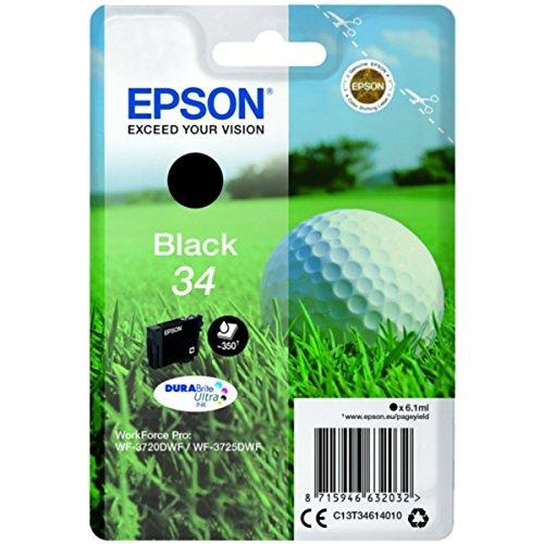 Epson original - Epson Workforce Pro WF-3725 DWF (34 / C13T34614020) - Tintenpatrone schwarz - 350 Seiten - 6,1ml