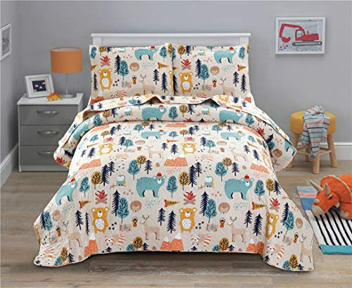 Comforters Christmas Birthday Little Girls Kids Life is Better at The Lake Twin Size Gifts from Mom Mommy Mother Dad Daddy Father Best Decorative