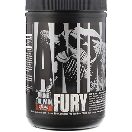 Universal Nutrition Animal Fury, Sinaasappel, 30 Porties