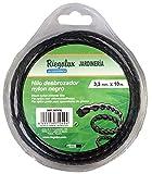 Riegolux 107676 Hilo Desbrozadora Nylon Helicoidal, Negro, 3.3 mm x 10 m