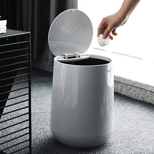 Trash Can Mülltonne 10 Liter trockener und Nasser Trennung Große Runde Push-in-Trash Can Küche Wohnzimmer Badezimmer Runde Trash Can Garbage Recycling für Küche Badezimmer