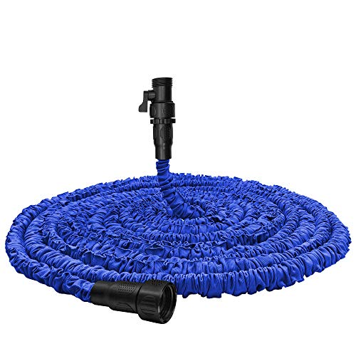 Garden Hose, Water Hose, Upgraded 75ft Flexible Pocket Expandable Garden Hose with 3/4' Fittings, Triple-layer Core, Flexi Expanding Hose useful house gifts for Outdoor Lawn Car Watering Plants