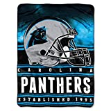 Officially Licensed NFL Carolina Panthers 'Stacked' Silk Touch Throw Blanket, 60' x 80', Multi Color