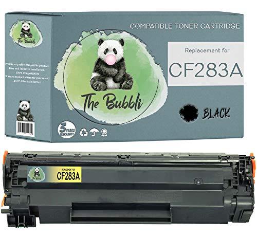 The Bubbli Original   CF283A 83A Tóner Compatible para HP Laserjet Pro MFP M125nw M126a M127fn M127fw M128fn M225dn M225dw M201dw M201n M202dw M202n (1 Negro)