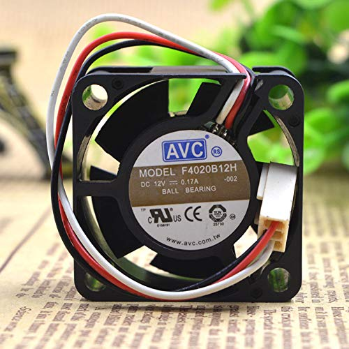 F4020B12H 12V 0.17A 4020 4CM 2-wire double ball cooling fan