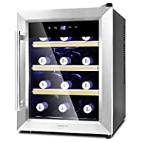 Cecotec Vinoteca Grand Sommelier 1200 CoolWood. Capacidad para 12 Botellas, B...