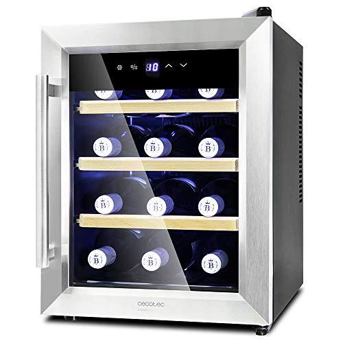Cecotec VinoCantina di 12 Bottiglie Capacità di 33L, Panel tattile e Schermo LED