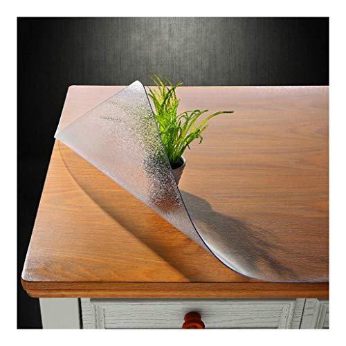 Clear nachtkastje Mat Multi Maat Pad - PVC Vinyl Top Protector for Rectangle Bureau, Houten Lijst dekking for de eettafel - Heavy Duty Tablecloth (Size : 80 * 130CM)