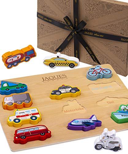 Jaques of London kinderpuzzle Holz ab 2 3 4 5 – Lass Uns Fahrzeug Spielen holzpuzzle – Spielzeug ab 2 3 4 5 Jahre seit 1795