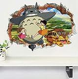 Adhesivo De Pared Diy Happy Totoro Art Stickers Para Niños Habitación Y Dormitorio Decoración Para El Hogar Decal Poster Murales 50X 70Cm