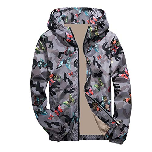 manadlian Homme Veste Pullover Blousons Manches Longues Impression Camouflage Sweats à Capuche Veste Slim Fit Jacket Classique Pullover Jogging Manteau