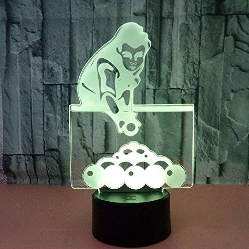 Biljart 3D Licht Touch Controle Home Verlichting Creatieve Geschenk 3D Led Kleine Tafellamp Tafel Moderne Tafellamp