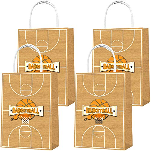 Party Favor Bags 16PCS for Basketball Gift Bags Goodie Bags Basketball Treat Candy Bags for Basketball Themed Kids Adults Birthday Party Supplies Decorations