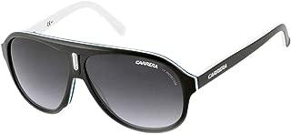 Carrera 38/S Adult Aviator Plastic Lifestyle Sunglasses - Black White Blue/Dark Gray Gradient/Size 59/10-135
