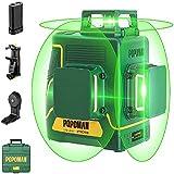 Nivel Láser Verde 3x360° POPOMAN, 3D Línea Láser Profesional 45m, Autonivelación y Modo de...