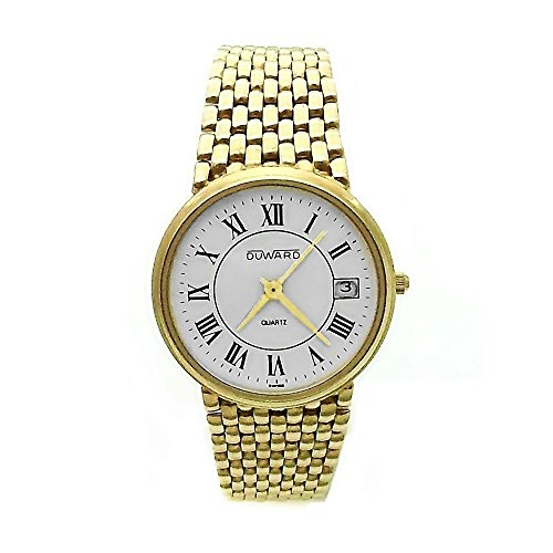 Reloj Duward Oro 18K Hombre Panter Liso Cierre Oculto 6324 A