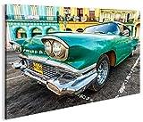 islandburner Bild Bilder auf Leinwand Taxi Cuba Havanna