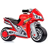 Motorrad-Aufsitz Molto Cross, ab 18 Monaten, geländegängig, Hightech-Spielzeugdekoration, löst Sich Nicht ab. Sportliches und einzigartiges Design (Rot)