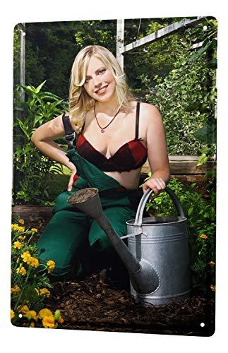LEotiE SINCE 2004 Targhe Cartello Targa in Metallo Decorazione della Parete 30x40 cm Sexy Divertimento Giardiniere