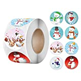 Aoberlak Pack Sticker Christmas Decorating Gift 1 Roll 500 Posts Christmas