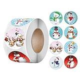 Aoberlak Pack Sticker Christmas Decorating Gift 1 Roll 500 Posts Christmas