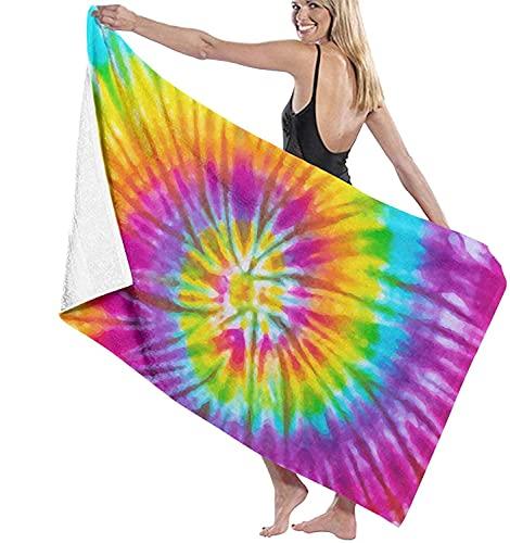 Toallas de baño Rainbow Tie Dye Beach Holiday Secado rápido Toalla Extra Larga Toalla de 31 '* 51' para baño Infantil