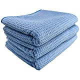 BATOCA 25 x 30 Inch Microfiber Waffle Drying Towel- Waffle Weave Towel, Super Absorbent for Large Car Washing Detailing Polishing Waxing and Dusting (3Pack)