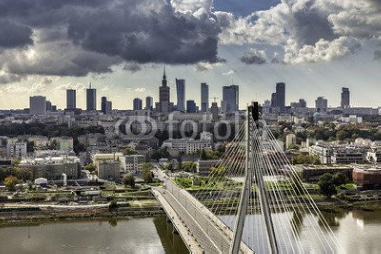 garantía de crédito Warsaw de silueta silueta silueta de behind the Bridge (57515192), lona, 110 x 70 cm  entrega de rayos