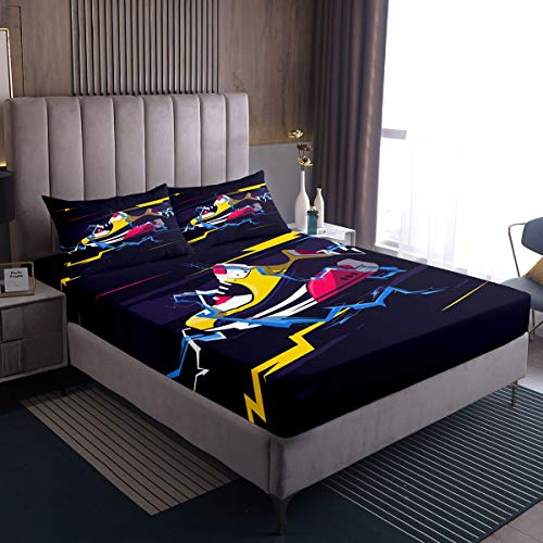 Feelyou Sports Sneaker Bed Sheets Sport Themed Bed Sheet Set for Kids Boys Girls Modern Cool Style Bedding Set Stylish Design Fitted Sheet Bedroom Collection 2Pcs TwinXL Size