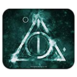 Harry Potter Deathly Hallows Logo Low Profile Thin Mouse Pad Mousepad