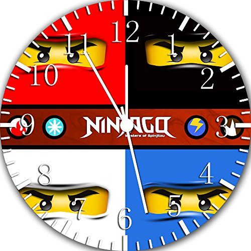 Frameless Clock Ninja Ninjago rahmenlose Wanduhr Z24 Nizza Geschenk oder Zimmer Wanddeko