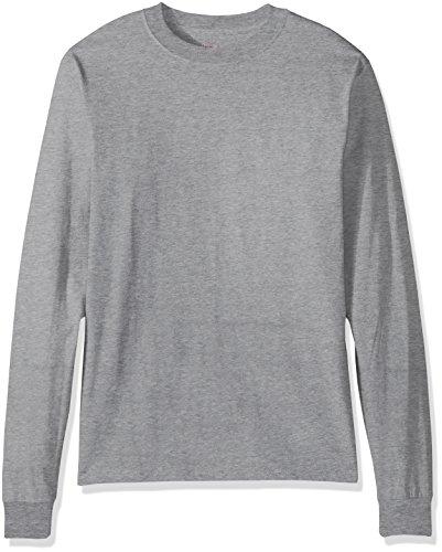 Price comparison product image Hanes Men's Beefy Long Sleeve Shirt,  Light Steel,  L