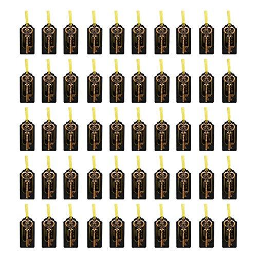 Sacacorchos clave, sacacorchos de regalo de boda vintage y recuerdos de fiesta(50 piezas de color cobre rojo)