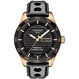 Orologio Tissot PRS 516 Automatic Gent T1004303605100 Automatico Acciaio Quandrante Nero Cinturino Pelle