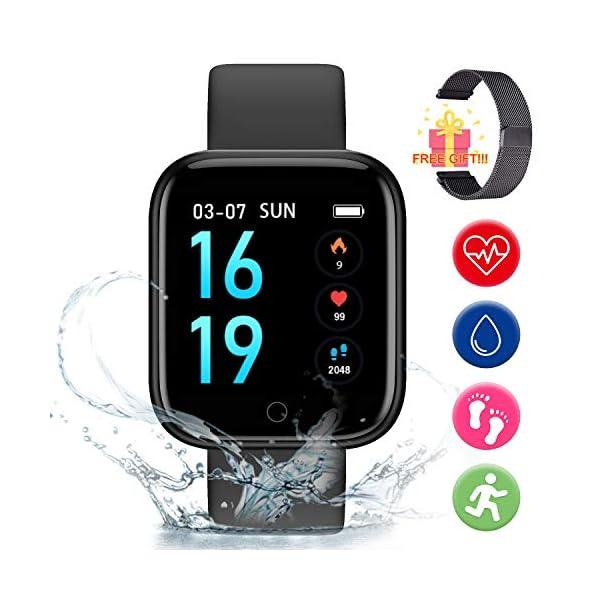 Smart Pulsera Fitness Tracker- Reloj Inteligente para Hombres Mujeres Bluetooth Rastreador de Actividad con Monitor de… 1