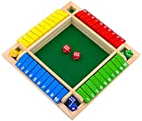Tanzfrosch Family Game Shut The Box Game Wooden Board Pub Bar Board Dice Game Math Game for Kids...