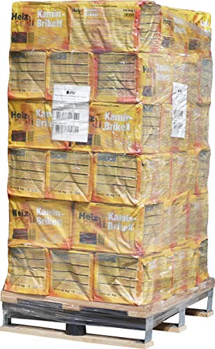 480kg Palette Kaminbriketts Heizprofi UNION Briketts 10kg Papiertüte + 1 Netz Anzündholz GRATIS Gluthalter Ofen Kohle Briketts von Energie Kienbacher
