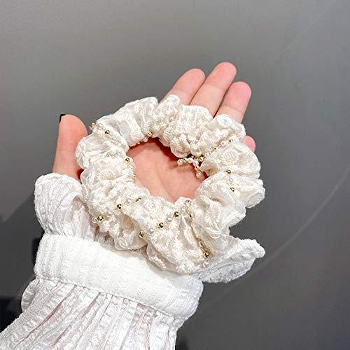 Cuerda de cabeza de temperamento lazo femenino cola de caballo lazo para el cabello lazo simple banda de goma para el cabello-cadena de bobinado