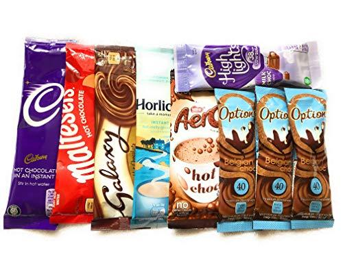 Hot Chocolate Selection cadburys maltesers Galaxy aero horlicks Options (Free Tester Sachet of lavazza with Every Purchase)