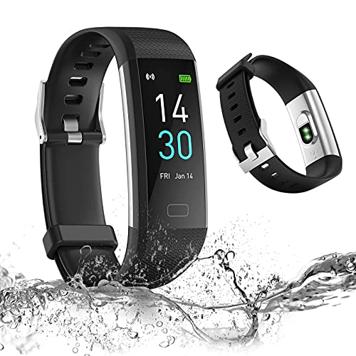 LAOYE Pulsera Actividad Reloj Inteligente Fitness Tracker IP68 Pulsera Inteligente Reloj Contador de Pasos y Calorias Monitor de Sueño Ritmo Cardíaco Pulsera Deportiva para Niños Hombre Mujeres