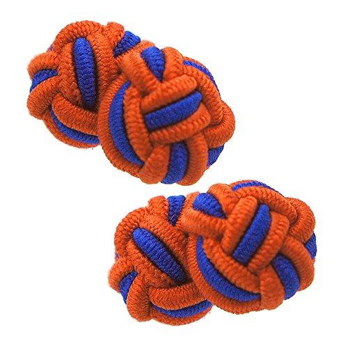 ガムカフス オレンジ & ネイビー(ゴムカフス カフスボタン カフリンクス)nsgum006-1