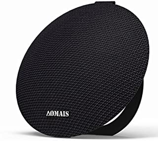 AOMAIS Ball Bluetooth Speakers,Wireless Portable Bluetooth 4.2,15W Superior Sound with DSP,Stereo Pairing for Surround Sound,Waterproof Rating IPX7,for Sports,Travel,Shower,Beach,Party(Black)