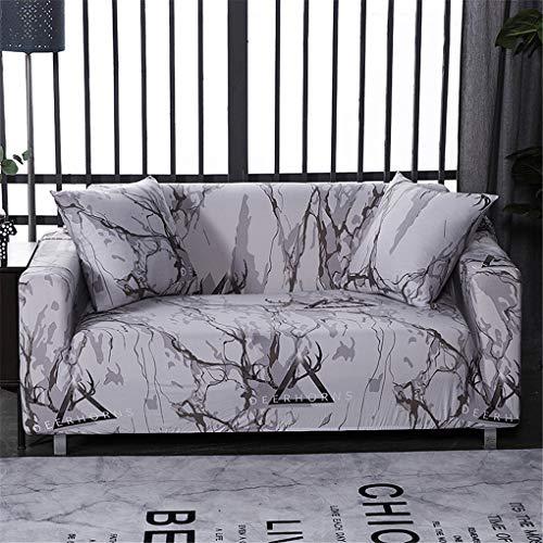 Funda de sofá, Cubierta de protección 3 plazas Combinación Elasticidad Estera de cojín Ultra Suave Agradable para la Piel Protectores de Silla Respirable para Sala (190-230 CM),Gris,2 Seater