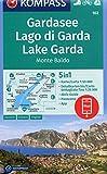 KOMPASS Wanderkarte Gardasee, Lago di Garda, Lake Garda, Monte Baldo: 5in1 Wanderkarte 1:50000 mit Panorama, Aktiv Guide und Detailkarten inklusive ... Segeln. (KOMPASS-Wanderkarten, Band 102)