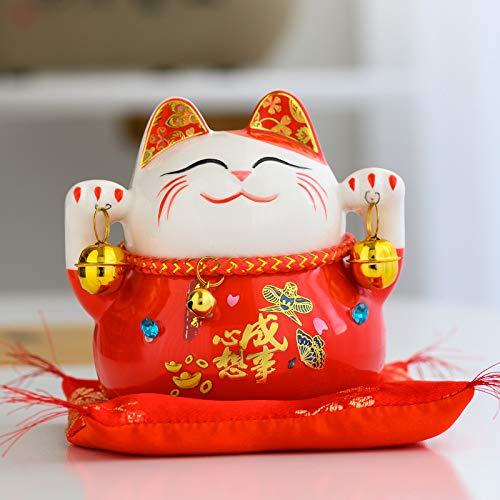 TSP Maneki Neko - Caja de ahorros de cerámica, diseño de gato de la fortuna