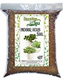Indoor Herb Soil Mixture All Natural Blended Soil for Indoor Herb Planters, Best for Indoor Kitchen and Garden Herb Growing - 4 Quart Bag